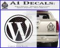 Customizable Wordpress Logo D1 Decal Sticker Carbon FIber Black Vinyl 120x97