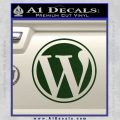 Customizable Wordpress Logo D1 Decal Sticker Dark Green Vinyl 120x120