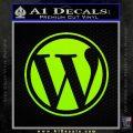 Customizable Wordpress Logo D1 Decal Sticker Lime Green Vinyl 120x120