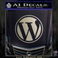 Customizable Wordpress Logo D1 Decal Sticker Metallic Silver Emblem 120x120