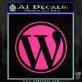 Customizable Wordpress Logo D1 Decal Sticker Pink Hot Vinyl 120x120