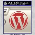 Customizable Wordpress Logo D1 Decal Sticker Red 120x120