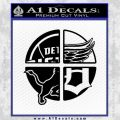 Detroit Pro Sports D1 Decal Sticker Black Vinyl 120x120