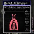 Donnie Darko Watched Over Frank Decal Sticker Pink Emblem 120x120