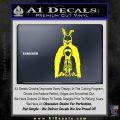 Donnie Darko Watched Over Frank Decal Sticker Yellow Laptop 120x120