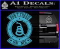 Dont Tread On Me Gadsden Snake DE Decal Sticker Light Blue Vinyl 120x97