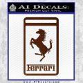 FERRARI Emblem Logo D3 Decal Sticker BROWN Vinyl 120x120