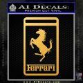 FERRARI Emblem Logo D3 Decal Sticker Gold Vinyl 120x120