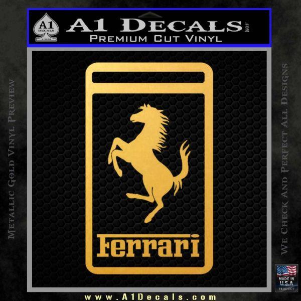 FERRARI Emblem Logo D3 Decal Sticker Gold Vinyl