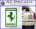 FERRARI Emblem Logo D3 Decal Sticker Green Vinyl Logo 120x97