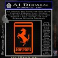 FERRARI Emblem Logo D3 Decal Sticker Orange Emblem 120x120