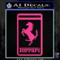 FERRARI Emblem Logo D3 Decal Sticker Pink Hot Vinyl 120x120