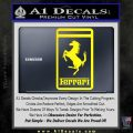 FERRARI Emblem Logo D3 Decal Sticker Yellow Laptop 120x120