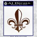 Fleur de Lis Decal Sticker ALT BROWN Vinyl 120x120