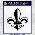 Fleur de Lis Decal Sticker ALT Black Vinyl 120x120