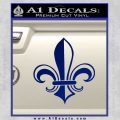 Fleur de Lis Decal Sticker ALT Blue Vinyl 120x120