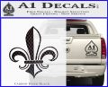 Fleur de Lis Decal Sticker ALT Carbon FIber Black Vinyl 120x97