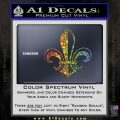Fleur de Lis Decal Sticker ALT Glitter Sparkle 120x120