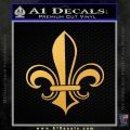 Fleur de Lis Decal Sticker ALT Gold Vinyl 120x120