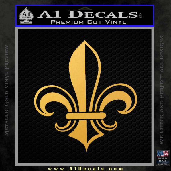 Fleur de Lis Decal Sticker ALT Gold Vinyl