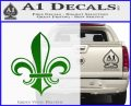 Fleur de Lis Decal Sticker ALT Green Vinyl Logo 120x97