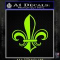 Fleur de Lis Decal Sticker ALT Lime Green Vinyl 120x120