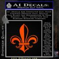 Fleur de Lis Decal Sticker ALT Orange Emblem 120x120