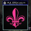 Fleur de Lis Decal Sticker ALT Pink Hot Vinyl 120x120