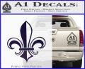 Fleur de Lis Decal Sticker ALT PurpleEmblem Logo 120x97