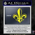 Fleur de Lis Decal Sticker ALT Yellow Laptop 120x120