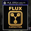 Flux Capacitor Decal Sticker Gold Vinyl 120x120