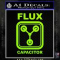Flux Capacitor Decal Sticker Lime Green Vinyl 120x120
