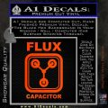 Flux Capacitor Decal Sticker Orange Emblem 120x120