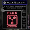 Flux Capacitor Decal Sticker Pink Emblem 120x120