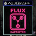 Flux Capacitor Decal Sticker Pink Hot Vinyl 120x120