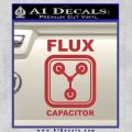 Flux Capacitor Decal Sticker Red 120x120