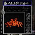 Flying Spaghetti Monster Pastafarian Decal Sticker Orange Emblem 120x120