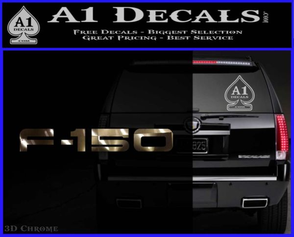 Ford F 150 Decal Sticker 3DChrome Vinyl