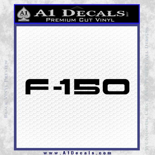 Ford F 150 Decal Sticker Black Vinyl