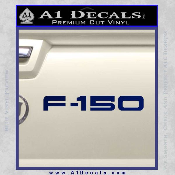 Ford F 150 Decal Sticker Blue Vinyl
