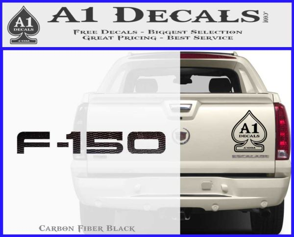 Ford F 150 Decal Sticker Carbon FIber Black Vinyl