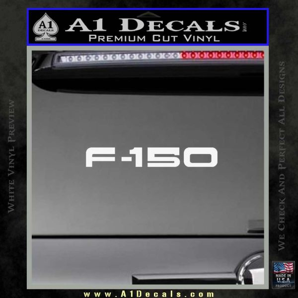 Ford F 150 Decal Sticker Gloss White Vinyl