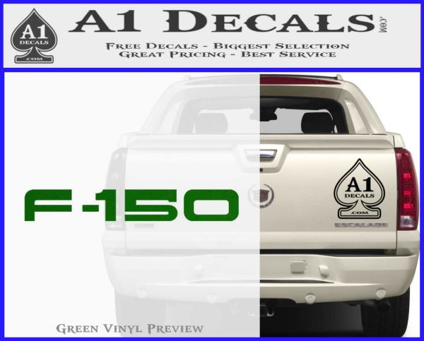 Ford F 150 Decal Sticker Green Vinyl Logo