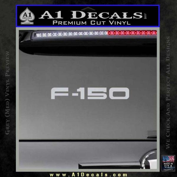 Ford F 150 Decal Sticker Grey Bumper