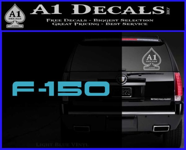 Ford F 150 Decal Sticker Light Blue Vinyl