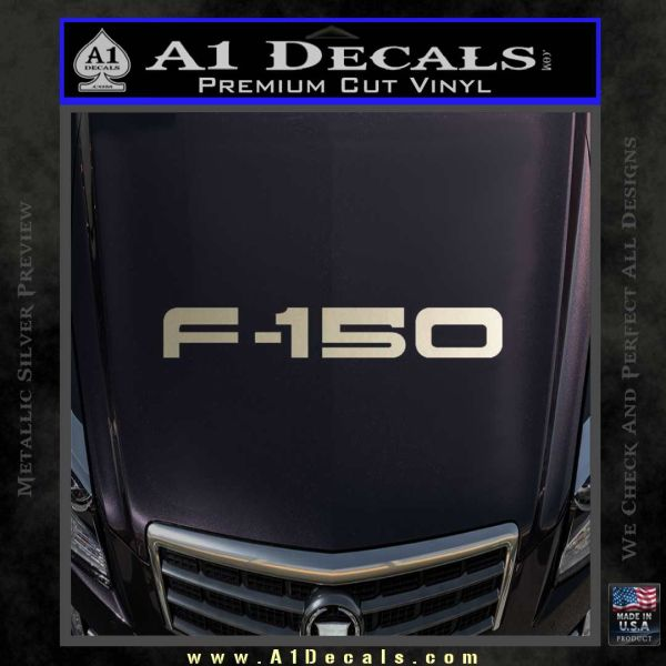 Ford F 150 Decal Sticker Metallic Silver Emblem
