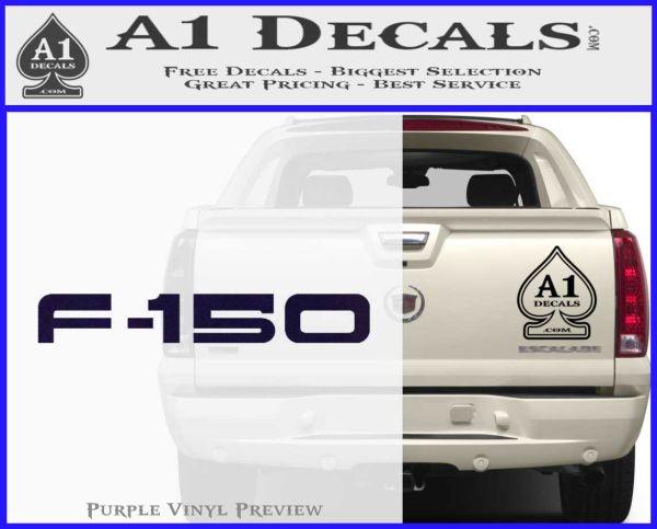 Ford F 150 Decal Sticker PurpleEmblem Logo