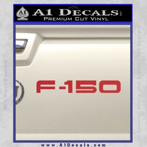 Ford F 150 Decal Sticker Red