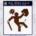 Funny Warrior Video Game D1 Decal Sticker BROWN Vinyl 120x120