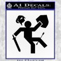 Funny Warrior Video Game D1 Decal Sticker Black Vinyl 120x120